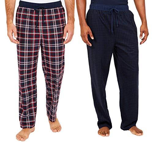 Nautica Men's Sueded Fleece Pajama Pants 2 Pack (Red, XL)