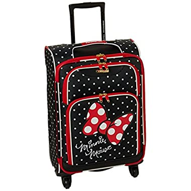 American Tourister Disney Minnie Mouse Red Bow Softside Spinner 21, Multi, One Size