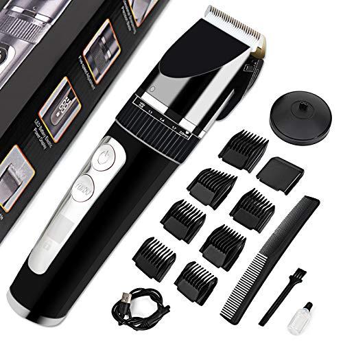 Haarschneider, StillCool Haarschneidemaschine Profi Haartrimmer Herren Langhaarschneider Männer, LCD-Anzeige USB wiederaufladbar IPX7 Wasserdicht