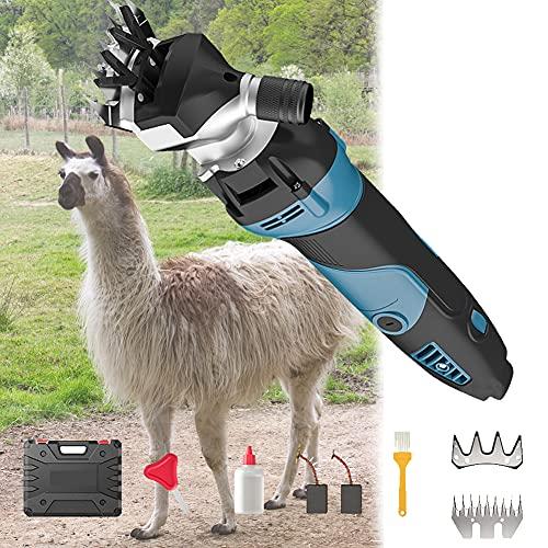EnweOil Esquiladora Eléctrica Profesional Maquina Esquilar para Ovejas, Esquilar EléCtrica para Cabras con Botón Giratorio de Ajuste de Apriete (1300W)