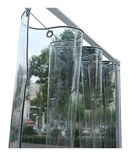 XWZH Lienzo de Uso General Uso Interior y Exterior for el balcón Ventana Habitación Sun Aislamiento Térmico plástico Transparente Lona Impermeable Cortina for Bloquear el Sol