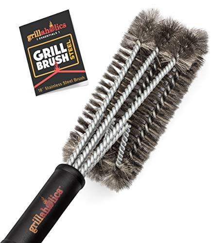 Grillaholics Essentials Grill Brush Steel