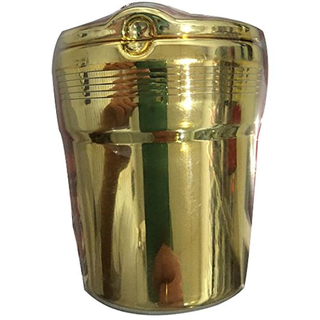 形容詞絶望マイクロフォンMtef ポータブル 車載灰皿 LED付き 電気めっきプラスチックの蓋 カー用品 9.2x7.5/5.5cm ゴールド