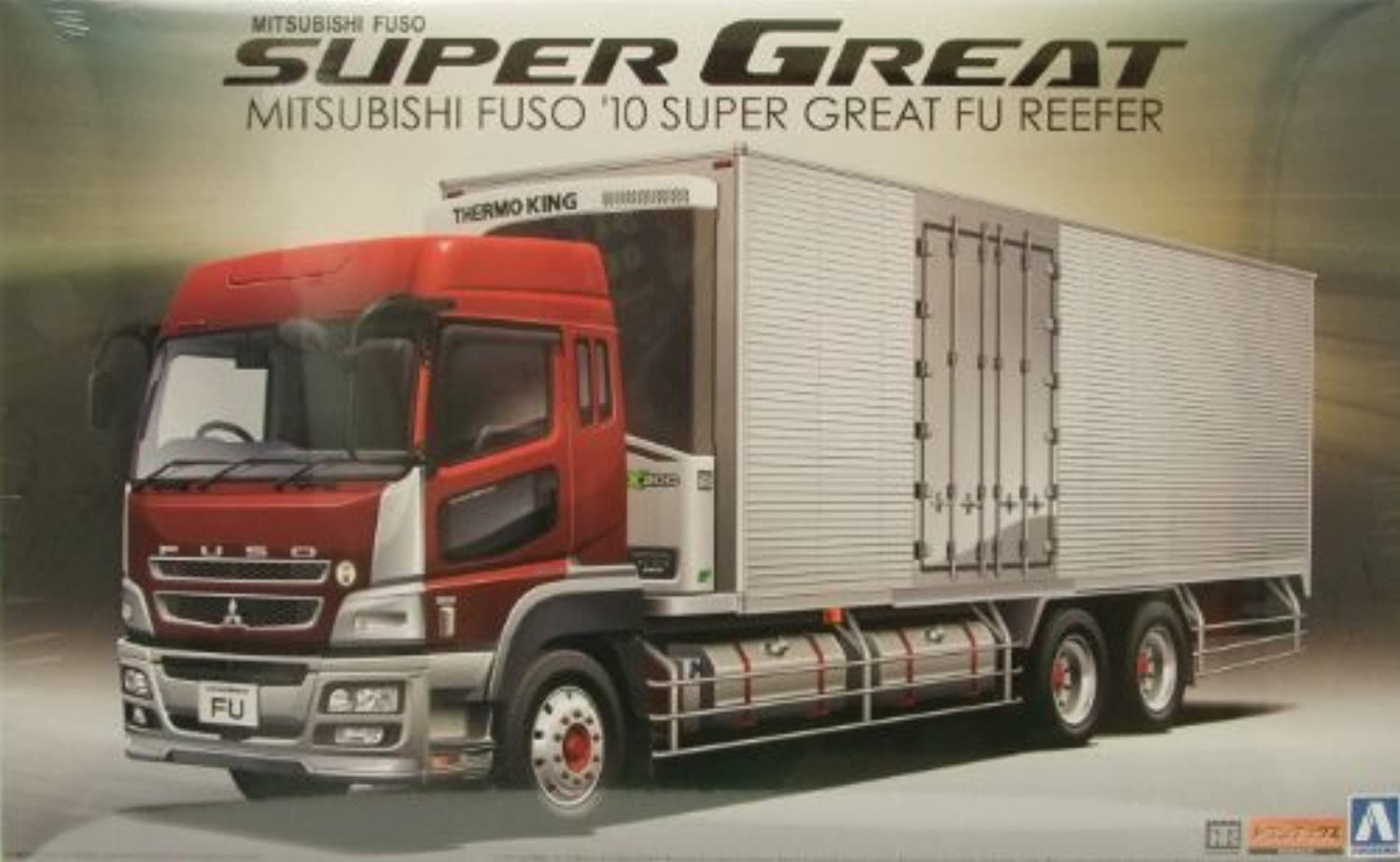 1 32 Mit FUSO Reefer Truck with Side Cargo Doors by Aoshima
