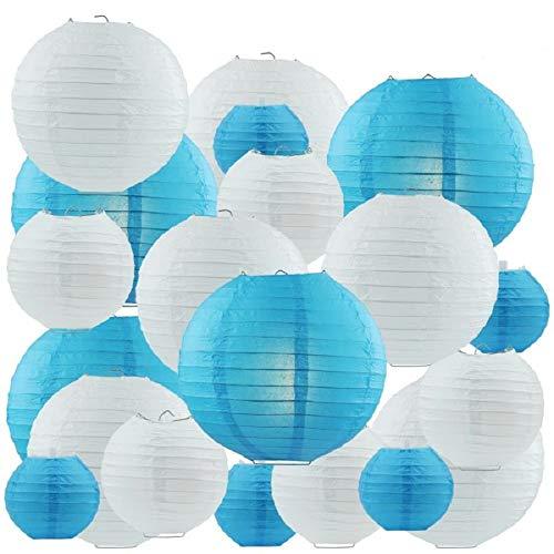 MKISHINE Papier Laterne Papierlaterne 20 Stück Lampenschirm Runde Laterne Papierlampions Zum Dekorieren von Leuchten, Ideal für Party