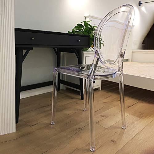Shoe stool Zapatero LUYIASI - Silla de Comedor Transparente, Moderna, Minimalista, Moderna y Creativa Silla de plástico acrílico nórdico