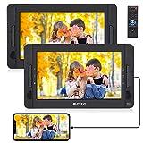 Pumpkin Double Lecteur DVD Portable Voiture Ecrans Appuie-tête de 10,1 Pouces pour Enfants Supporte HDMI Input USB SD MMC Dernière mémoire Autonomie de 5 Heures (Un Lecteur DVD et Un Moniteur)