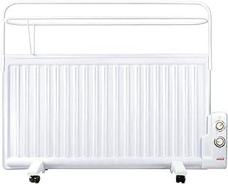 lcc Calentador de Panel montado en la Pared Caja Fuerte para baño 1600W con Estante de Secado, radiador eléctrico de Baja energía para el hogar, termostato eficiente Slimline