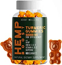 ADDOT WellLife Vegan Hèmp Turmeric Natural Gummies - High Potency Natural Gummies - Promotes Relaxation, Joint Pain, Insomnia, Anxiety (1 Bottle)