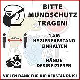 MS Car Sticker Bitte MUNDSCHUTZ TRAGEN! Warn & Hinweisaufkleber lustig (1)