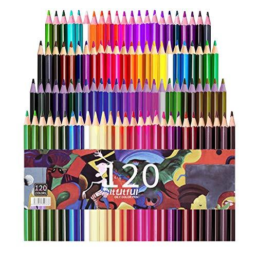 mreechan Buntstifte Set,Hochwertige Kunst-Buntstifte 120er Pack für Kinder,Erwachsene, Künstler & Skizzenzeichner Perfekt für Anfänger Schulprojekte, Zeichnen