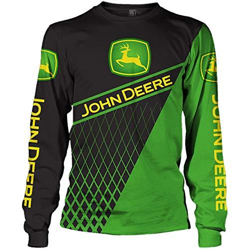 xiaosu Herren Hooded Jacke Hoodie/T-Shirt John-Deere 3D Drucken Leicht Sweatshirt Unisex Beiläufig Sportkleidung Y/D/XL