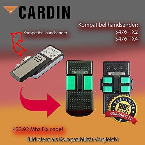 CARDIN S476-TX4 compatible remote control CARDIN S476-TX2 CLONE 433,92Mhz