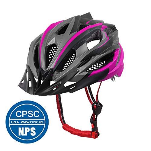 X-TIGER Fahrrad Unisex Erwachsenenhelm mit CE-Zertifikat, Visier und abnehmbarem Innenschuh, spezialisiert auf Mountainbiken (Pink)