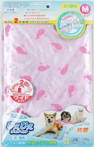 ペッツルート(PetzRoute)ひえひえジェルマット抗菌ピンクM犬・猫用