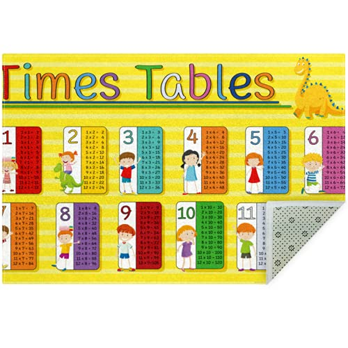 Bennigiry Times Tables Multiplication Table Area Rugs Rug Mat Carpet for Living Room Bedroom Playing Room Carpets,60'x39'
