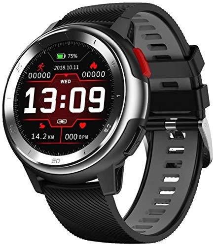 KLT Reloj inteligente con pantalla de 1 2 pulgadas y 22 esferas se puede cambiar libremente, IP68, impermeable, notificación de deportes de sueño, Android y iOS, color negro
