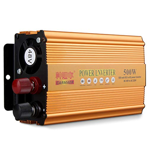FURUN - Inversor de potencia (500 W, 12 V a 220 V, inversor de onda sinusoidal modificada)