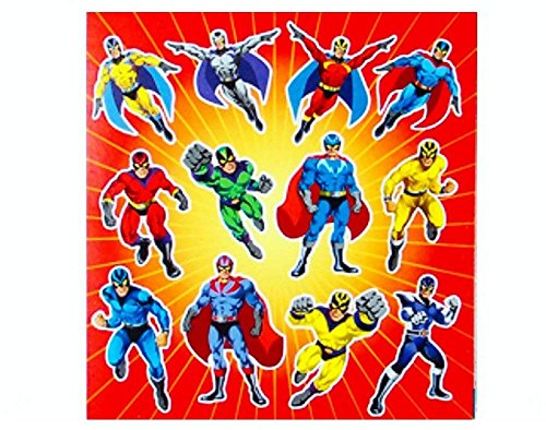 Super Hero Sticker Strip (One supplied) by Party Bags 2 Go