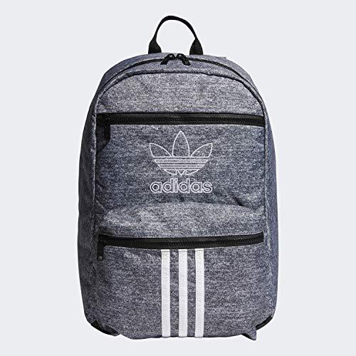adidas Originals Unisex National 3-Stripes Backpack, Onix Jersey/Black, ONE SIZE