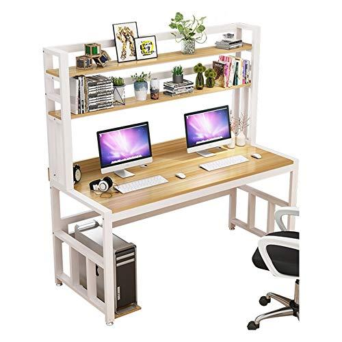 HEMFV Escritorio ergonómico para computadora Escritorio de la computadora, Escritorio del Ordenador portátil PC de la Tabla del Ordenador con estantes, Mesa Madera de la computadora, for la Seguridad