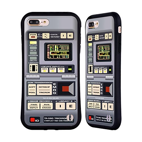 Head Case Designs Officially Licensed Star Trek Tricorder Gadgets TNG Hybrid Case Compatible with Apple iPhone 7 Plus/iPhone 8 Plus