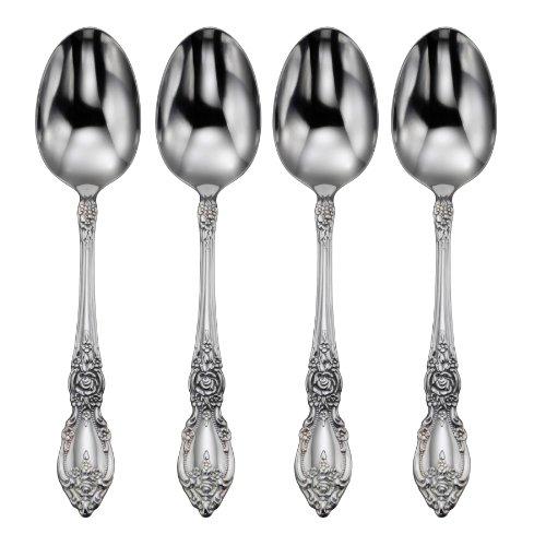Oneida Flatware Wordsworth Set Of 4 Teaspoons,Silver