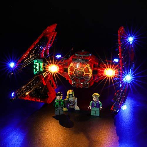 BRIKSMAX Kit di Illuminazione a LED per Lego Star Wars Tie Fighter del Maggiore Vonreg,Compatibile con Il Modello Lego 75240 Mattoncini da Costruzioni - Non Include Il Set Lego.