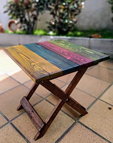 Mesa plegable de madera de palet hecho a mano