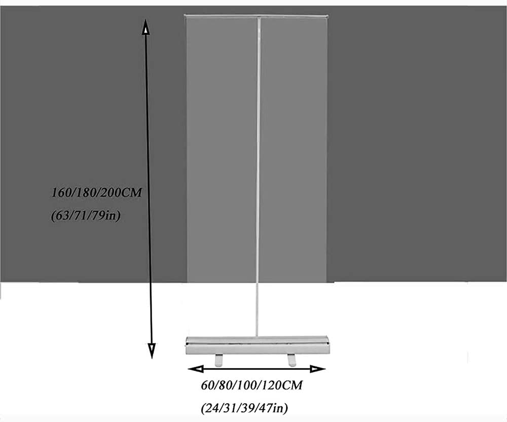 Receptionist Easy to Carry for Cafes Retail Stores Roller Pull Up Clear Banner Floor-Standing Sneeze Guard Protection Screen for Office,Free Hand Bag Cashier