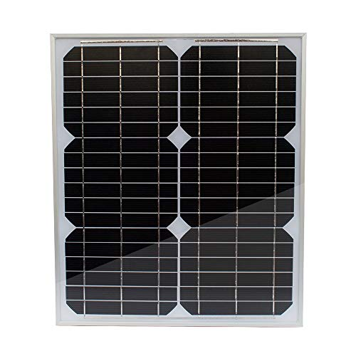 20W 12V Monokristallines Solarmodul Solarpanel Solarzelle für Auto Motorrad Traktor Boot Batterien 12V Batterien