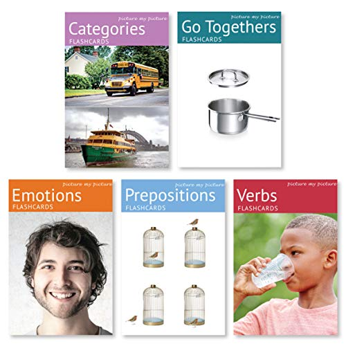 Feelings and Emotions, Prepositions, Verbs, Categories and Go Togethers Flash Card Pack