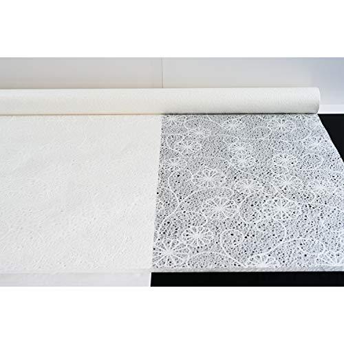 SinBi Hanji Naturfaser-Textur, Ranken-Design, Wassertropfen-Blasen-Muster, Papier, 120 cm x 20 m, 30 g/m²