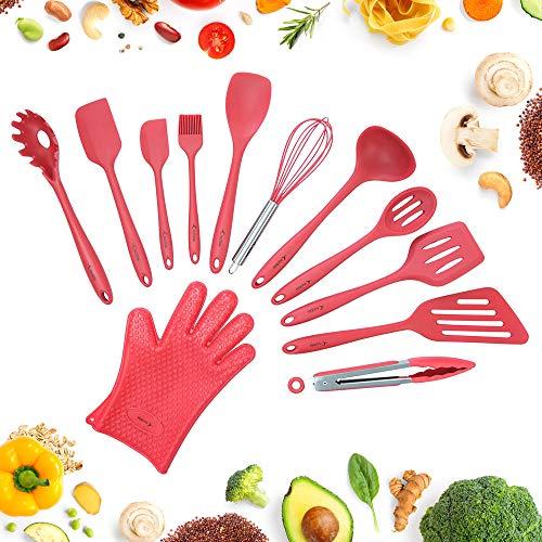 Juego de utensilios, juego completo de utensilios de cocina para cocinar y...