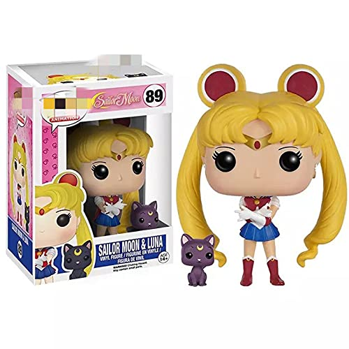 JINGMAI Figura De Acción De Vinilo De Anime Sailor Moon Luna Cat De 10 Cm, Juguetes De Modelos De Colección para Regalo De Cumpleaños De Niñas