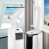 SanGlory Fensterabdichtung Hot Air Stop für Mobile Klimageräte, Klimaanlagen, Abluft-Wäschetrockner und Wäschetrockner, 300CM,AirLock zum Anbringen an Fenster,Dachfenster Flügelfenster(Fenster 300CM)