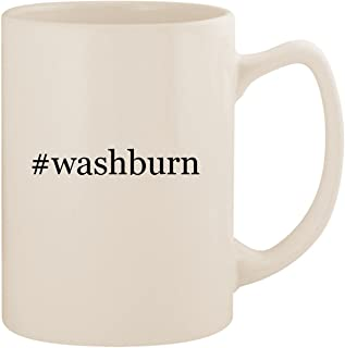 #washburn - White Hashtag 14oz Ceramic Statesman Coffee Mug Cup