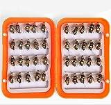 CHSEEO 40PCS Moscas Cebo de Pesca Señuelos de Pesca con Ganchos Cebos Artificial Swimbait Manivela Cebo Cucharillas Pesca Accesorios Aparejos De Pesca para la Pesca #5