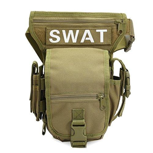 WARM home Sac de Taille Militaire Pratique pour Les Armes Tactiques de Plein air Sport de randonnée Jambe/Sac spécial étanche pour la Cuisse Sac de Vacances