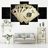 5 Panel/Set Lienzos Handart Cuadro En Lienzo Cinco Partes HD Clásico Óleo Impresiones Decorativas Cartel Arte Pared Pinturas Hogar Lienzo Lona Amarilla Flutter