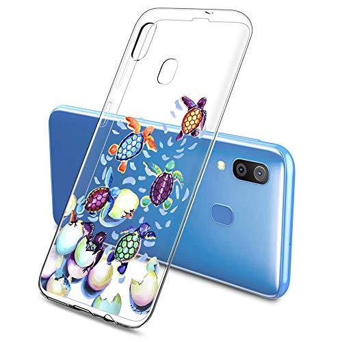 Suhctup - Carcasa compatible con Samsung Galaxy M20, ultrafina, de silicona, diseño antiarañazos, TPU (poliuretano termoplástico)