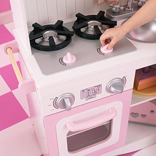 KidKraft 53222 Moderne Country Spielküche, Rosa und Weiß - 9