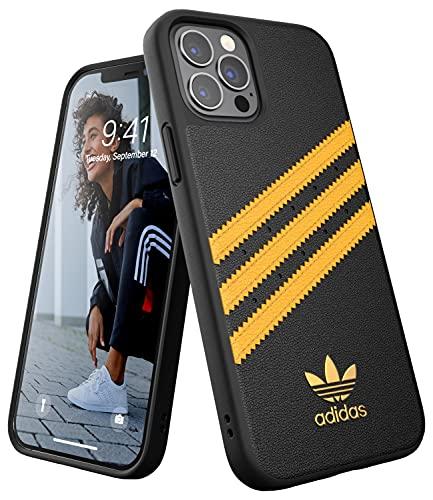 adidas Custodia progettata per iPhone 12 / iPhone 12 Pro 6.1, cover testate a caduta, bordi rialzati antiurto originale, colore: Nero/Oro