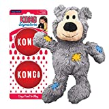 KONG - Wild Knots Bear and Signature Balls (2 Pack) - Rope Plush Toy and Squeak Balls - for Medium Dogs