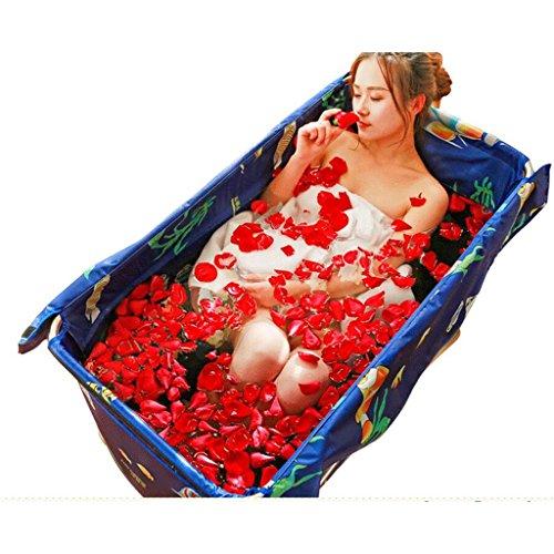 Ali@ Einfache klappbare Badewanne Erwachsene Bad-Säuglings-und Junge Kinder-Swimmingpool-Hauptaufblasbare Wanne (Farbe : A)