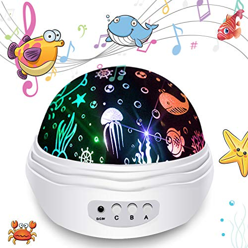 Star Night Light Projector, 3 in 1 Star Ocean Projector 360°Rotating 8 Colors Mode Night Lights with USB Cable, Popular Toy Gifts for Kids Birthday Christmas (Ocean)