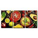 wall26 - Mexican Food Concept - Canvas Art Wall Art - 24'x36'x3 Panels