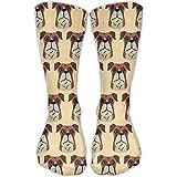 Calcetines de vestir unisex con diseño de perro boxer, para zapatos de tallas...