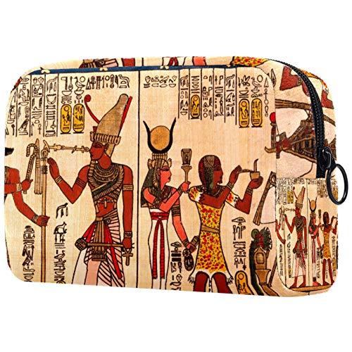 Schminktasche Reise Kosmetiktasche Tasche Geldbörse Handtasche mit Reißverschluss - Ägyptische Papyrus Antike Hieroglyphen, Muttertagsgeschenk