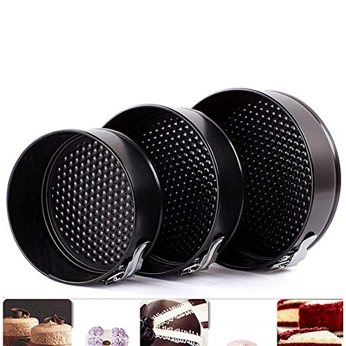 Falytemow Nonstick Springform Pan with Removable Bottom 3 Pieces Cake Molds of Round Leakproof Cheesecakes Pan Bakeware Set